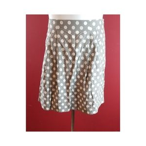 J.Crew Gray Skirt With white Polka Dots Size 12